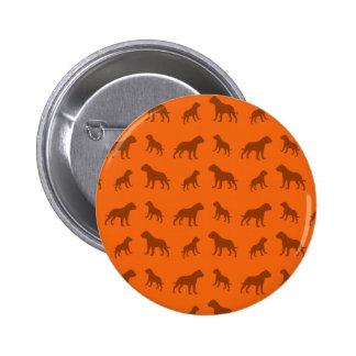 Orange bulldog pattern pin