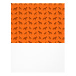 Orange bulldog pattern flyer design