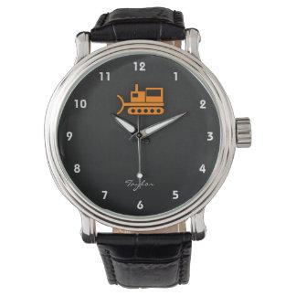 Orange Bulldozer Wristwatches