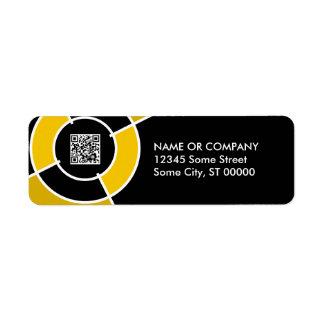 orange bullseye QR code Label