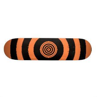 Orange Bullseye Skateboard