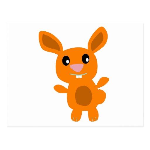 Orange Bunny Postcard