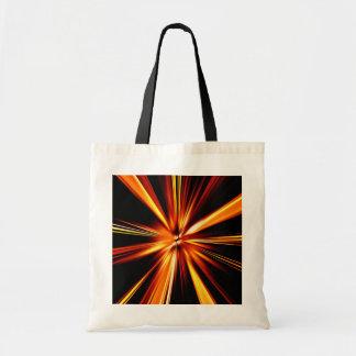 Orange Burst Budget Tote Bag