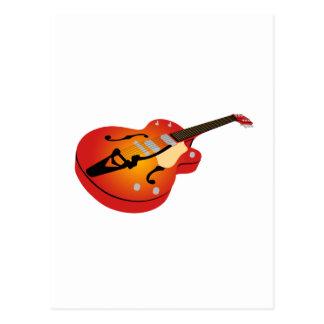 Orange Burst Guitar Postcard