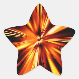 Orange Burst Star Sticker