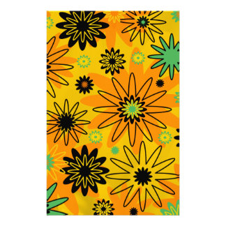 Orange Burst Stationery