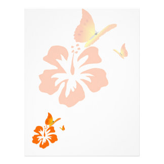 orange butterflies letterhead