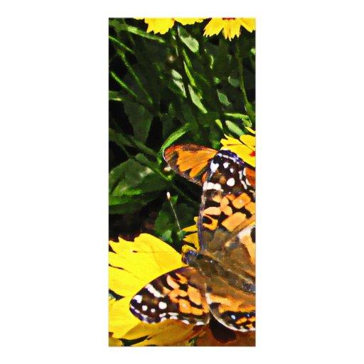 Orange Butterflies on Yellow Coreopsis Rack Card Design