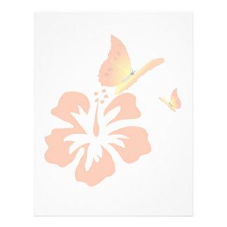 orange butterflies personalized letterhead