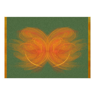 Orange Butterfly Abstract Art Print