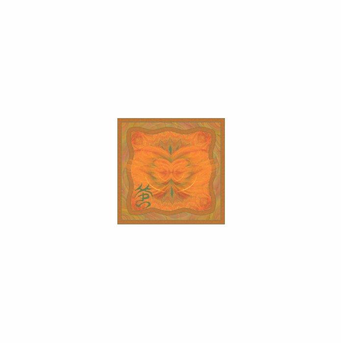 Orange Butterfly Abstract Art Statuette