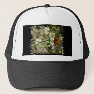 Orange Butterfly and Bee Trucker Hat