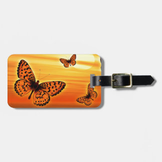 Orange Butterfly Bag Tag