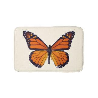Orange Butterfly Bath Mat