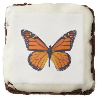 Orange Butterfly Brownies Square Brownie