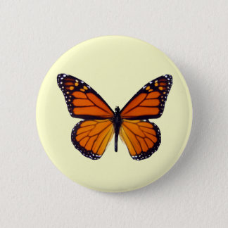 Orange Butterfly Button