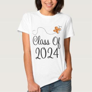Orange Butterfly Class of 2024 T-Shirt
