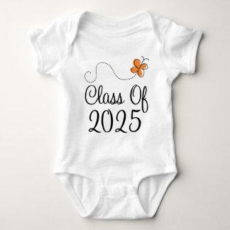 Orange Butterfly Class of 2025 Baby Bodysuit