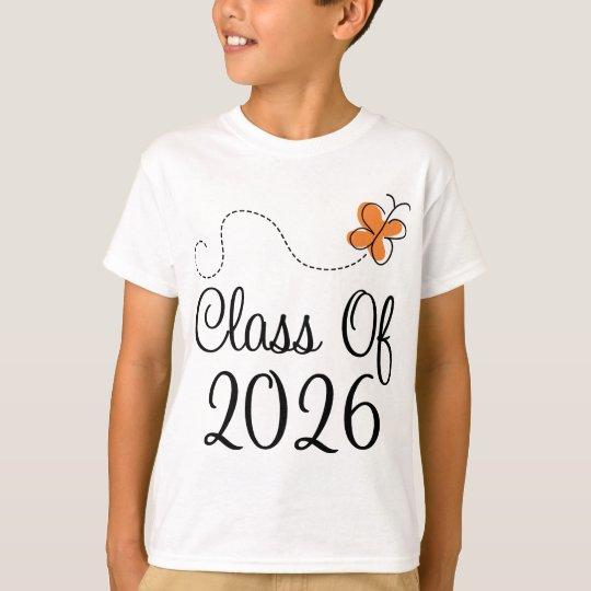 Orange Butterfly Class of 2026 T-Shirt