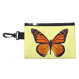 Orange Butterfly Clip On Accessory Bag