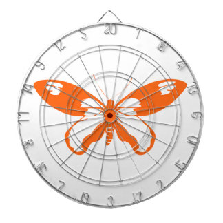Orange Butterfly Dartboard