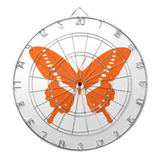 Orange Butterfly Dartboard With Darts