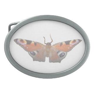 orange butterfly digital image oval belt buckle