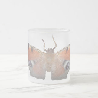 orange butterfly ( digital image ) frosted glass coffee mug