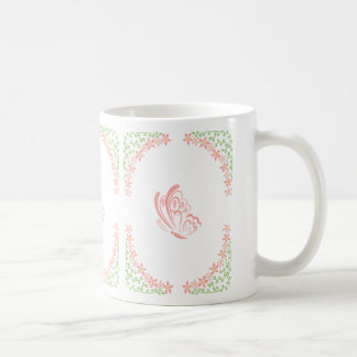 Orange Butterfly Embellishment Coffee Mug