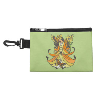 Orange Butterfly Fairy With Flowing Dress Accessory Bag