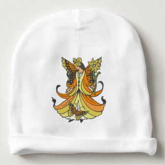 Orange Butterfly Fairy With Flowing Dress Baby Beanie