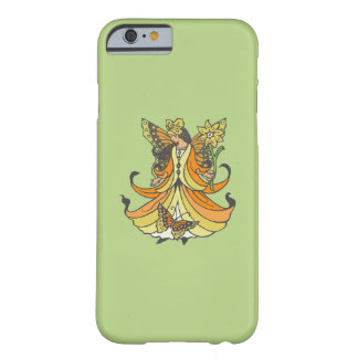 Orange Butterfly Fairy With Flowing Dress Barely There iPhone 6 Case