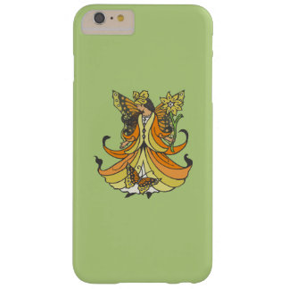 Orange Butterfly Fairy With Flowing Dress Barely There iPhone 6 Plus Case