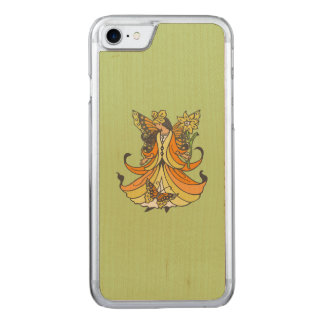 Orange Butterfly Fairy With Flowing Dress Carved iPhone 7 Case