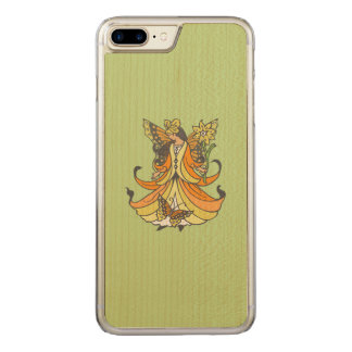 Orange Butterfly Fairy With Flowing Dress Carved iPhone 7 Plus Case