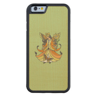 Orange Butterfly Fairy With Flowing Dress Carved Maple iPhone 6 Bumper Case