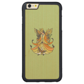Orange Butterfly Fairy With Flowing Dress Carved Maple iPhone 6 Plus Bumper Case