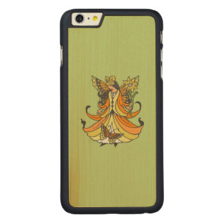 Orange Butterfly Fairy With Flowing Dress Carved Maple iPhone 6 Plus Slim Case