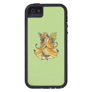 Orange Butterfly Fairy With Flowing Dress Case For iPhone SE/5/5s