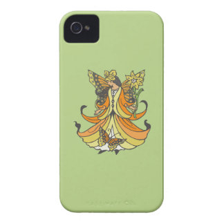 Orange Butterfly Fairy With Flowing Dress Case-Mate iPhone 4 Case