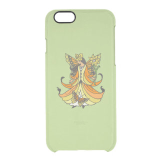 Orange Butterfly Fairy With Flowing Dress Clear iPhone 6/6S Case