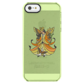 Orange Butterfly Fairy With Flowing Dress Clear iPhone SE/5/5s Case