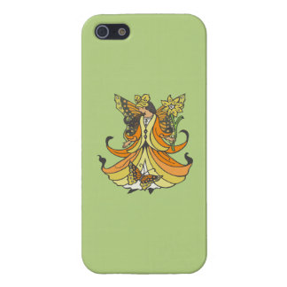 Orange Butterfly Fairy With Flowing Dress Cover For iPhone SE/5/5s