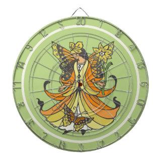 Orange Butterfly Fairy With Flowing Dress Dartboards