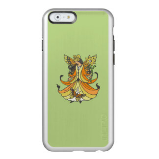 Orange Butterfly Fairy With Flowing Dress Incipio Feather Shine iPhone 6 Case