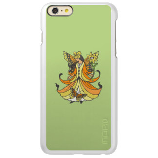 Orange Butterfly Fairy With Flowing Dress Incipio Feather Shine iPhone 6 Plus Case