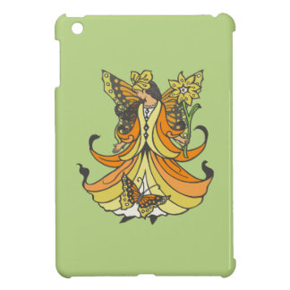 Orange Butterfly Fairy With Flowing Dress iPad Mini Cover