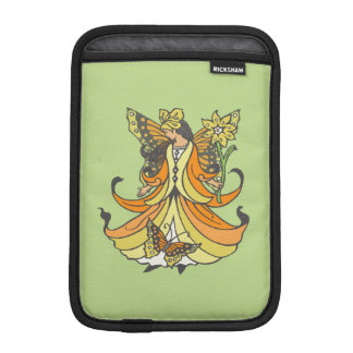 Orange Butterfly Fairy With Flowing Dress iPad Mini Sleeve