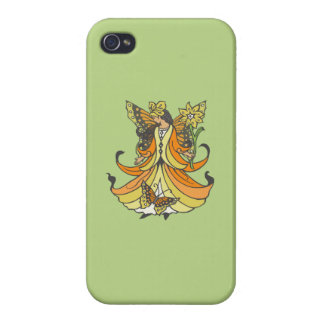 Orange Butterfly Fairy With Flowing Dress iPhone 4/4S Cover