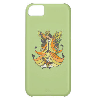 Orange Butterfly Fairy With Flowing Dress iPhone 5C Case